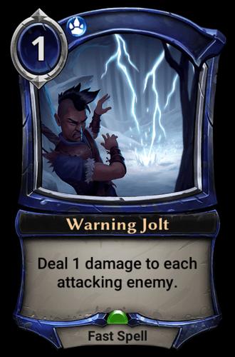 Warning Jolt card