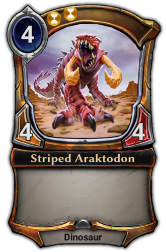 Striped Araktodon card