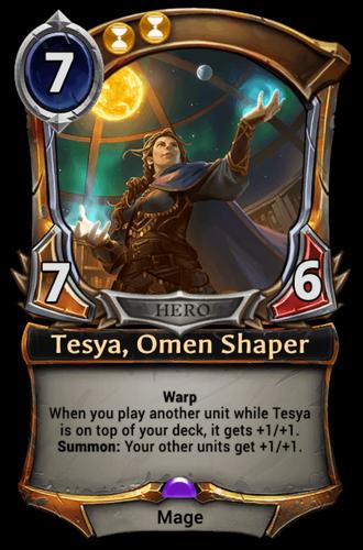 Tesya, Omen Shaper card