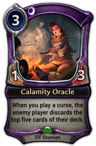 Calamity Oracle card
