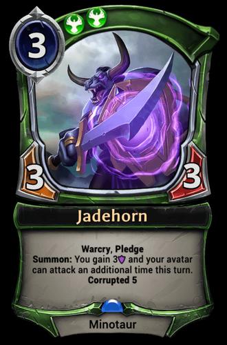 Jadehorn card