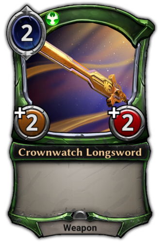 Crownwatch Longsword card