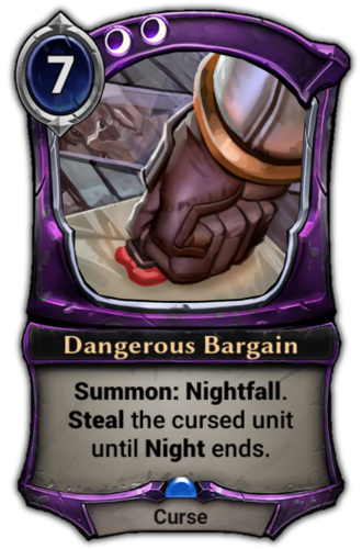 Dangerous Bargain card