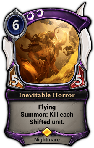 Inevitable Horror card