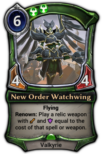 New Order Watchwing card