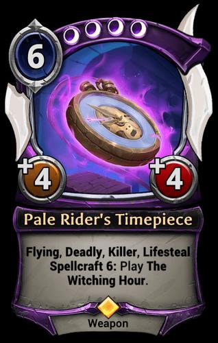 Pale Rider's Timepiece card