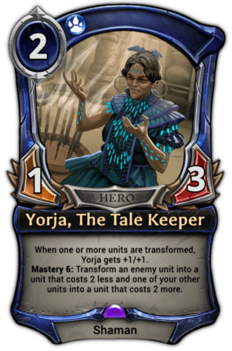 Yorja, The Tale Keeper card
