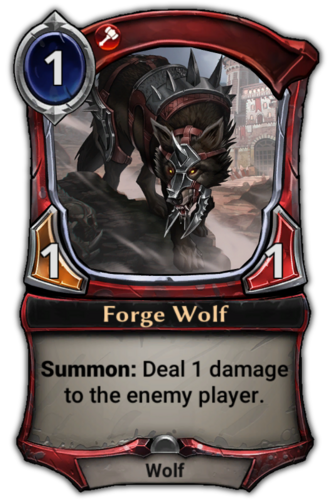 Forge Wolf card