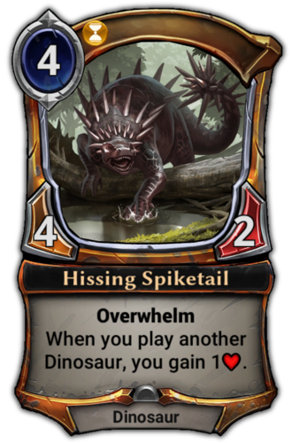 Hissing Spiketail card