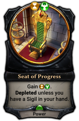 Seat of Progress card
