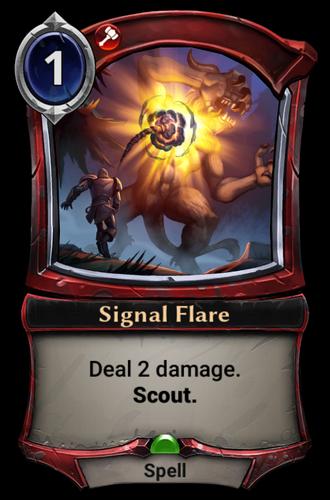 Signal Flare card