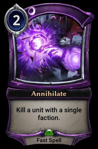 Annihilate card