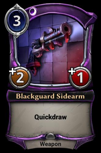 Blackguard Sidearm card