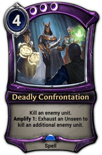 Deadly Confrontation card