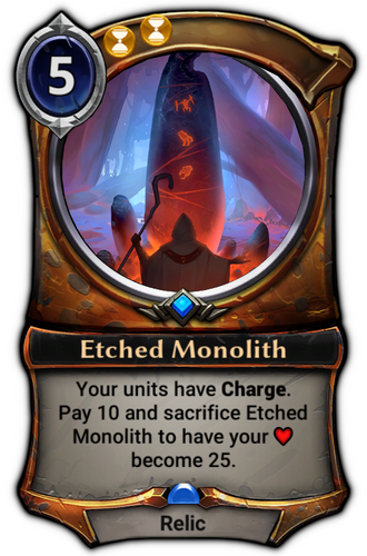 Etched Monolith card