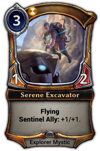 Serene Excavator card