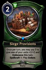 Siege Provisions