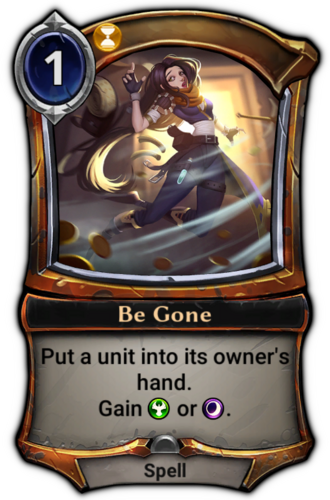 Be Gone card