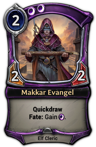 Makkar Evangel card