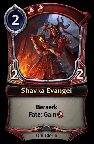 Shavka Evangel card