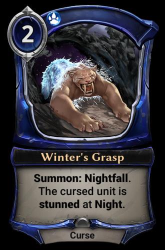 Winter's Grasp card