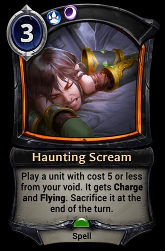 Haunting Scream card
