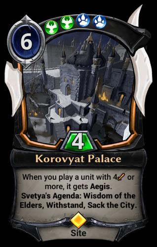 Korovyat Palace card