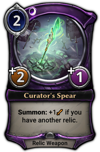 Curator's Spear card