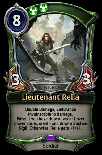 Lieutenant Relia card