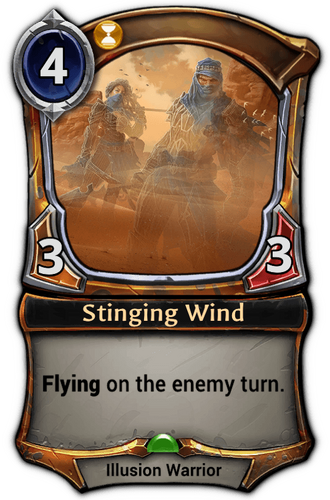 Stinging Wind card
