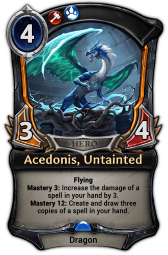 Acedonis, Untainted card