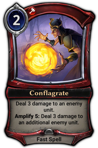 Conflagrate card