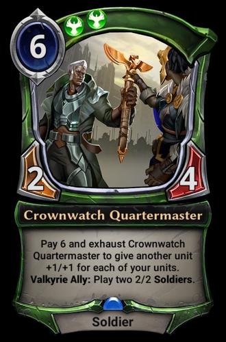 Crownwatch Quartermaster card