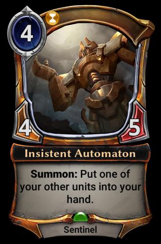 Insistent Automaton card