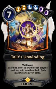 Talir's Unwinding