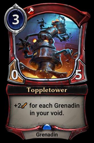 Toppletower card