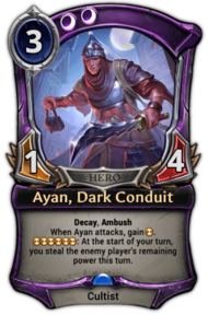 Ayan, Dark Conduit