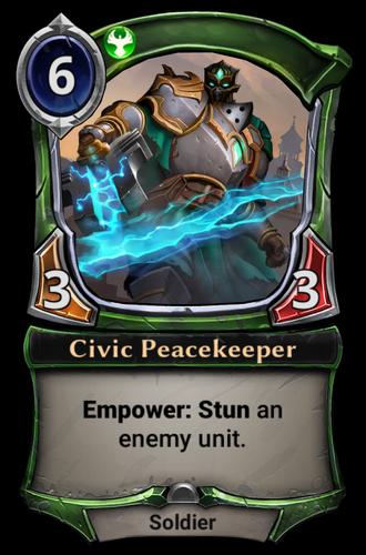 Civic Peacekeeper card