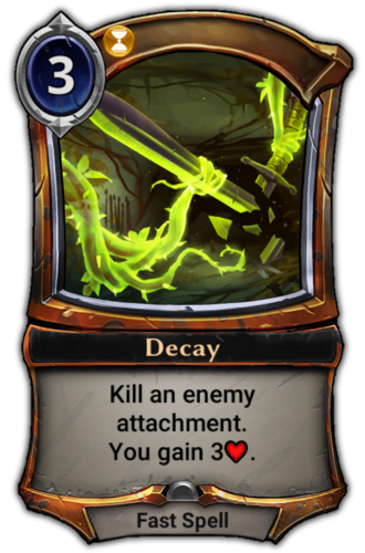 Decay card