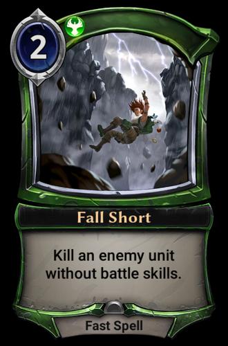 Fall Short card