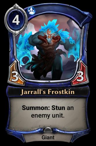 Jarrall's Frostkin card