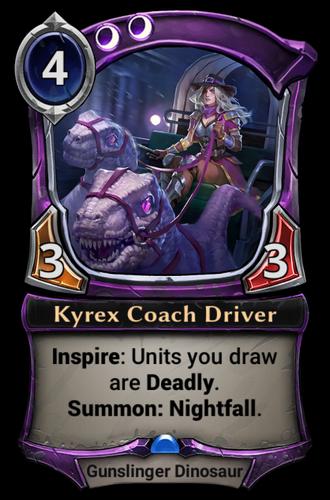 Kyrex Coach Driver card