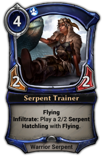 Serpent Trainer card