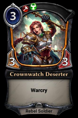 Crownwatch Deserter card