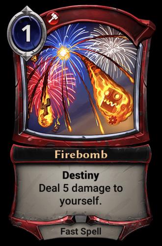 Alternate-art Firebomb card
