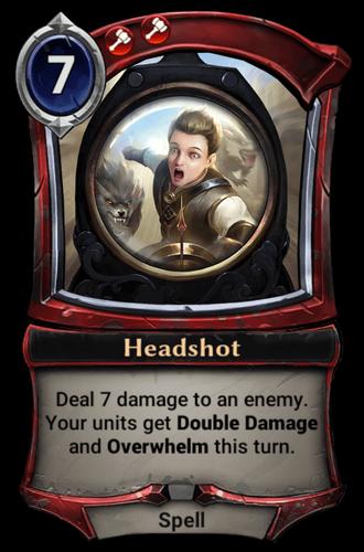 Headshot card