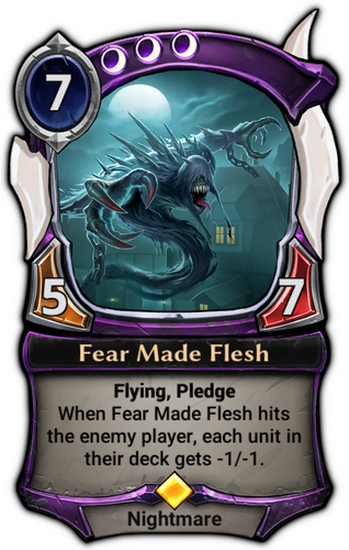 Fear Made Flesh card