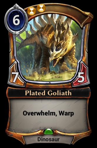 Plated Goliath card