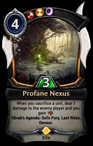 Profane Nexus card