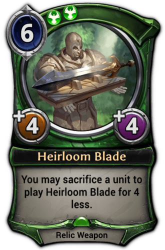 Heirloom Blade card
